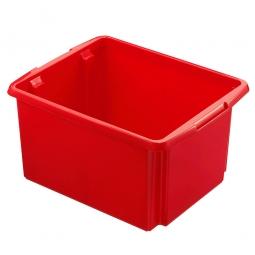 Leichter Drehstapelbehälter, PP, LxBxH 455 x 360 x 245 mm, 32 Liter, rot