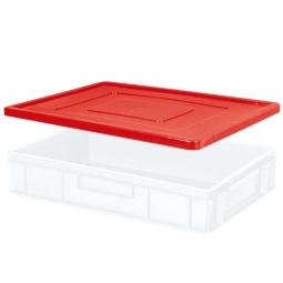 Stülpdeckel für Euro-Stapelbehälter, LxB 600x400 mm, rot, Gewicht 900 g