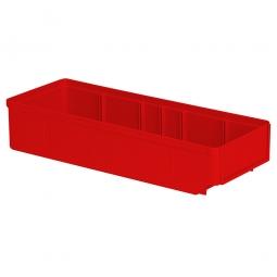 Regalkasten, rot, LxBxH 400x152x83 mm, Polystyrol-Kunststoff (PS), Gewicht 290 g