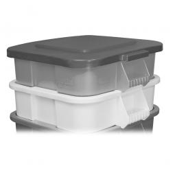Deckel für Mehrzweckbehälter eckig, 151 Liter, LxB 600x600 mm, grau, Polyethylen-Kunststoff (PE)