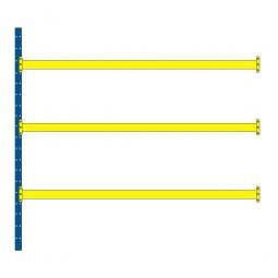 Paletten-Steck-Anbauregal, mit 3 Paar Tragbalken, HxBxT 3500x2785x1100 mm, Fachlast 2600 kg/Tragbalkenebene