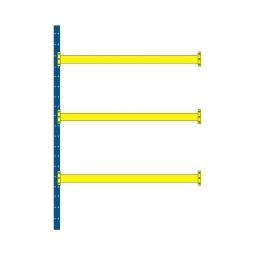 Paletten-Steck-Anbauregal mit 3 Paar Tragbalken, HxBxT 3500x1885x1100 mm, Tragkraft 2400 kg/Tragbalkenpaar