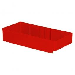 Regalkasten, rot, LxBxH 400x186x83 mm, Polystyrol-Kunststoff (PS), Gewicht 340 g