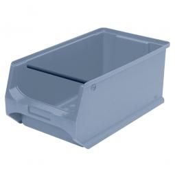 Sichtbox PROFI LB3T mit Tragstab, grau, LxBxH 350x200x150 mm, innen 295x175x140 mm.