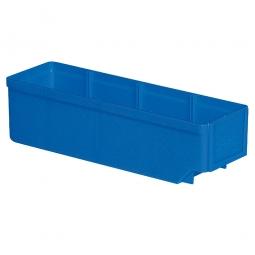 Regalkasten, blau, LxBxH 300x93x83 mm, Polystyrol-Kunststoff (PS), Gewicht 175 g