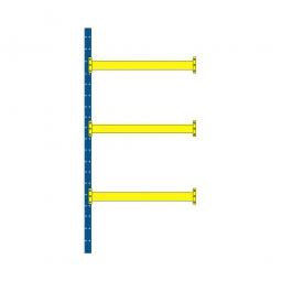 Paletten-Steck-Anbauregal mit 3 Paar Tragbalken, HxBxT 4000 x 1885 x 1100 mm, Tragkraft: 3100 kg/Tragbalkenpaar