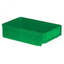 Regalkasten, grün, LxBxH 300x186x83 mm, Polystyrol-Kunststoff (PS), Gewicht 260 g