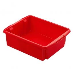 Leichter Drehstapelbehälter, PP, LxBxH 455 x 360 x 145 mm, 17 Liter, rot