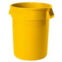 Mehrzweckbehälter, Inhalt 121 Liter, gelb, ØxH 560x690 mm, Polyethylen-Kunststoff (PE)