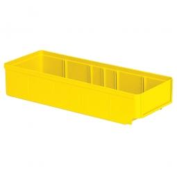 Regalkasten, gelb, LxBxH 400x152x83 mm, Polystyrol-Kunststoff (PS), Gewicht 290 g