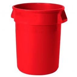 Mehrzweckbehälter, Inhalt 121 Liter, rot, ØxH 560x690 mm, Polyethylen-Kunststoff (PE), FG263200RED