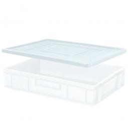 Stülpdeckel für Euro-Stapelbehälter, LxB 600x400 mm, weiß, Gewicht 900 g