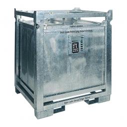 ASF Behälter einwandig, Inhalt 200 Liter, BxTxH 570x570x700 mm, Gewicht 55 kg