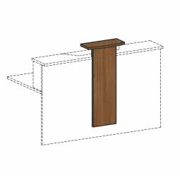 Empfangstheken-Aufsatz, Nussbaum, BxH 320/500x1012 mm