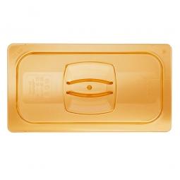 Auflagedeckel für Schale GN1/3, LxB 325x176 mm, Ultem-Kunststoff, bernsteinfarben, FG221P23AMBR
