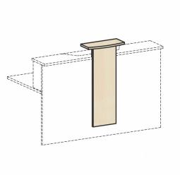Empfangstheken-Aufsatz, Ahorn, BxH 320/500x1012 mm