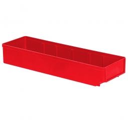 Regalkasten, rot, LxBxH 500x152x83 mm, Polystyrol-Kunststoff (PS), Gewicht 375 g