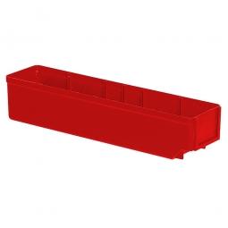 Regalkasten, rot, LxBxH 400x93x83 mm, Polystyrol-Kunststoff (PS), Gewicht 250 g