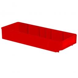Regalkasten, rot, LxBxH 500x186x83 mm, Polystyrol-Kunststoff (PS), Gewicht 475 g