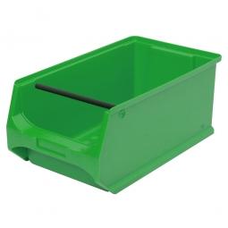 Sichtbox PROFI LB3T mit Tragstab, grün, LxBxH 350x200x150 mm, innen 295x175x140 mm.