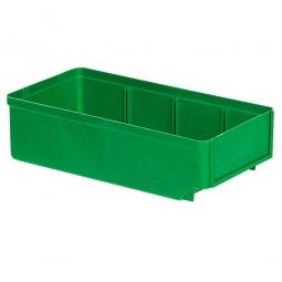 Regalkasten, grün, LxBxH 300x152x83 mm, Polystyrol-Kunststoff (PS), Gewicht 195 g