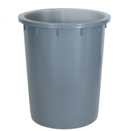 Rundtonne 200 Liter, Ø oben/unten 670/540, H 790mm, grau, Polyethylen-Kunststoff (PE-HD)