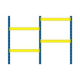 Paletten-Steck-Komplettregal mit 4 Paar Tragbalken, HxBxT 3000 x 5710 x 1100 mm, Fachlast 2600 kg/Tragbalkenpaar