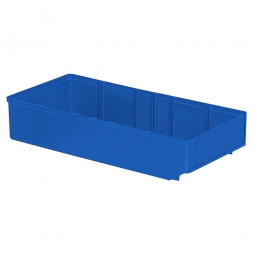 Regalkasten, blau, LxBxH 400x186x83 mm, Polystyrol-Kunststoff (PS), Gewicht 340 g