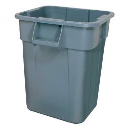 Eckiger Mehrzweckbehälter, Inhalt 151 Liter, grau, LxBxH 600x600x730 mm, Polyethylen-Kunststoff (PE)