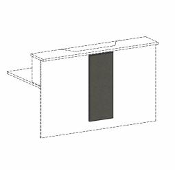 Empfangstheken-Blende, graphit, BxH 320x812 mm