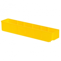 Regalkasten, gelb, LxBxH 500x93x83 mm, Polystyrol-Kunststoff (PS), Gewicht 285 g