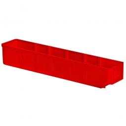 Regalkasten, rot, LxBxH 500x93x83 mm, Polystyrol-Kunststoff (PS), Gewicht 285 g