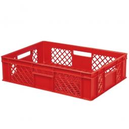 Stapelbehälter, durchbrochen, LxBxH 600x400x150 mm, rot
