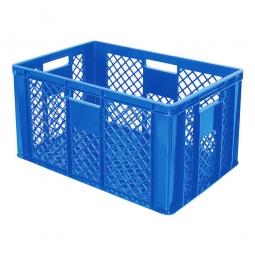 Stapelbehälter, LxBxH 600x400x320 mm, blau