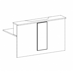 Empfangstheken-Blende, weiß, BxH 320x812 mm