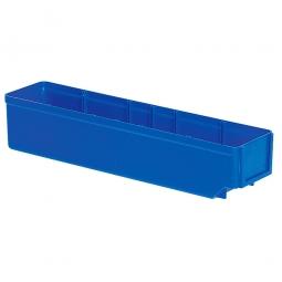 Regalkasten, blau, LxBxH 400x93x83 mm, Polystyrol-Kunststoff (PS), Gewicht 250 g