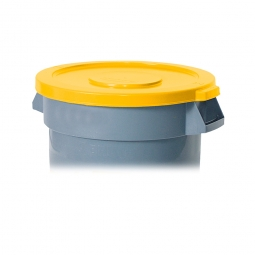 Deckel für Mehrzweckbehälter 121 Liter, gelb, Ø 560 mm, Polyethylen-Kunststoff (PE), FG263100YEL