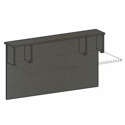 Vorwandelement gerade für Empfangstheke, BxH 1800x1025 mm, graphit