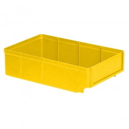 Regalkasten, gelb, LxBxH 300x186x83 mm, Polystyrol-Kunststoff (PS), Gewicht 260 g