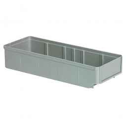 Regalkasten, grau, LxBxH 400x152x83 mm, Polystyrol-Kunststoff (PS), Gewicht 290 g