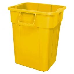 Eckiger Mehrzweckbehälter, Inhalt 106 Liter, gelb, LxBxH 545x545x570 mm, Polyethylen-Kunststoff (PE)