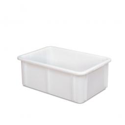 Euro-Schwerlastbehälter, PE-HD, LxBxH 600 x 400 x 215 mm, Boden und Wände geschlossen, 40 Liter, weiß