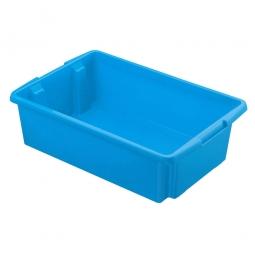 Leichter Drehstapelbehälter, PP, LxBxH 595 x 395 x 170 mm, 30 Liter, blau