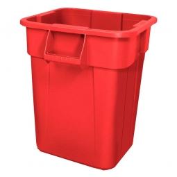 Eckiger Mehrzweckbehälter, Inhalt 106 Liter, rot, LxBxH 545x545x570 mm, Polyethylen-Kunststoff (PE)