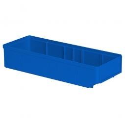 Regalkasten, blau, LxBxH 400x152x83 mm, Polystyrol-Kunststoff (PS), Gewicht 290 g