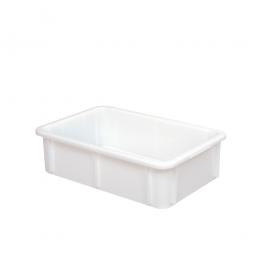 Euro-Schwerlastbehälter, PE-HD, LxBxH 600 x 400 x 165 mm, Boden und Wände geschlossen, 30 Liter, weiß
