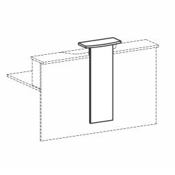 Empfangstheken-Aufsatz, weiß, BxH 320/500x1012 mm