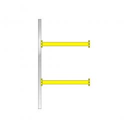 Paletten-Steck-Anbauregal, mit 2 Paar Tragbalken, HxBxT 3500 x 1885 x 1100 mm, Fachlast: 2400 kg/Tragbalkenpaar