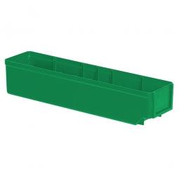 Regalkasten, grün, LxBxH 400x93x83 mm, Polystyrol-Kunststoff (PS), Gewicht 250 g