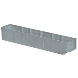 Regalkasten, grau, LxBxH 500x93x83 mm, Polystyrol-Kunststoff (PS), Gewicht 285 g